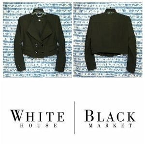 WHBM ✴️ Double Breasted Cropped Blazer